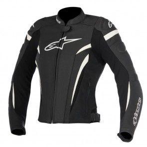 Alpinestars Racing Stella GP Plus R v2 Airflow Womens Leather Motorcycle Jackets - Black/White - 38