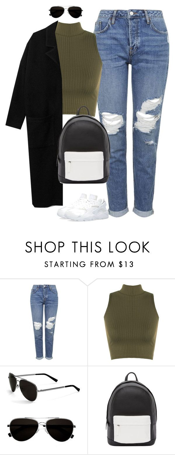 """Untitled #455"" by christyandnef on Polyvore featuring Topshop, WearAll, Calvin Klein, PB 0110, NIKE, women's clothing, women, female, woman and misses"