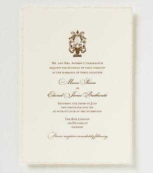 Reece Wedding Invitation   Traditional Wedding Invitation