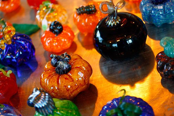 glass pumpkins from columbus ohio