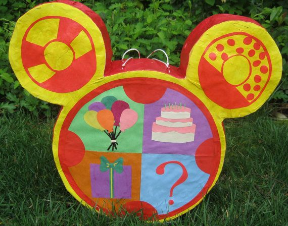 OMG I found the piñata for Ben's bday!!!!!!! Mickey Mouse Clubhouse Toodles Pinata by RandomCraftsKindness, $55.00