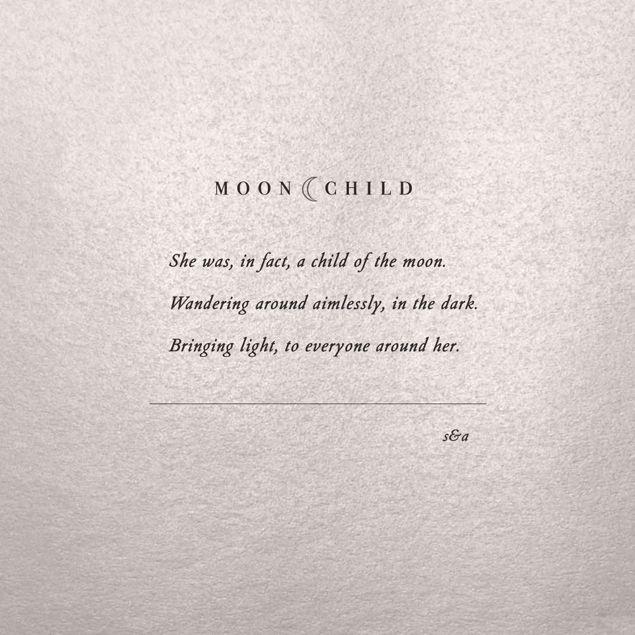 MOON CHILD #moonchild #poetry #poem #boho