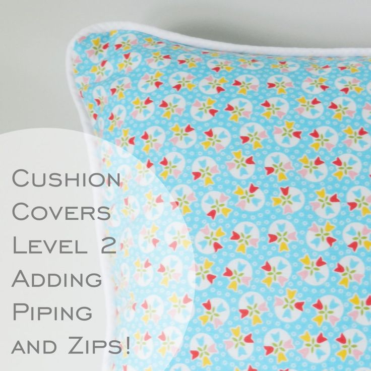 learn to sew perfect #cushioncovers with #zips and #piping and no overlap in
