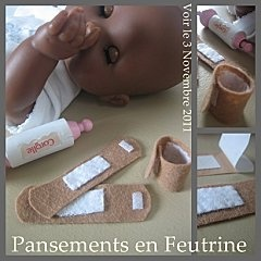 bandaids for your baby's baby.  make her a little hypochondriac
