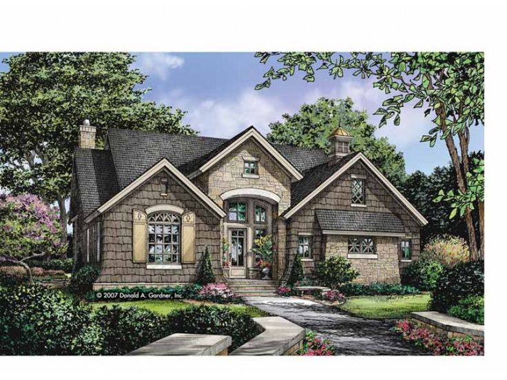 Cottage Style 1 Story 3 Bedrooms S House Plan With 1898