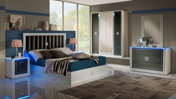 Cristal Weiss mit 4-trg Kleiderschrank Schlafzimmer – Yuvam … #dekoration #h…  #Kleiderschrank