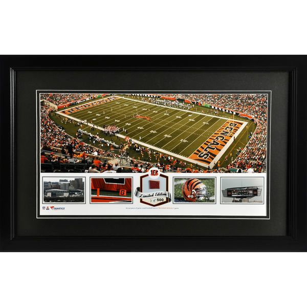 Cincinnati Bengals Fanatics Authentic Framed Paul Brown Stadium Panoramic Collage with Game-Used Football - Limited Edition of 500 - $99.99