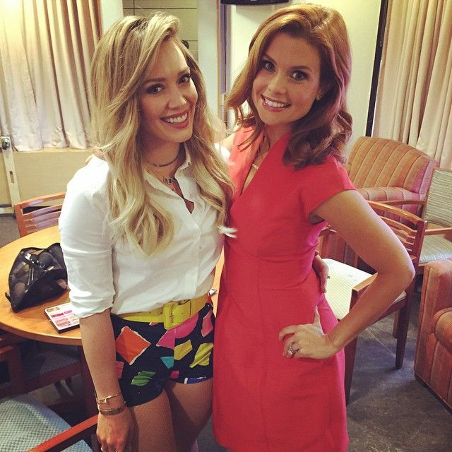 We love these colorful geometric short, shorts on Hilary. Get more Hilary Duff style inspiration in Younger on TV Land. Watch the latest episode at http://www.tvland.com/shows/younger.