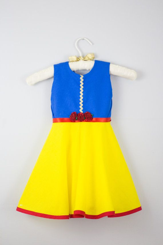 Snow White Princess Dress - Handmade Everyday Wear Disney Princess Costume 0-3, 3-6, 6-12, 12-18, 18-24 months 2t, 3t, 4t, 5