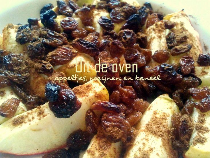 Lekkerste gezonde snack: Appeltjes met kaneel en rozijnen uit de oven! - www.mariekevanwoesik.nl