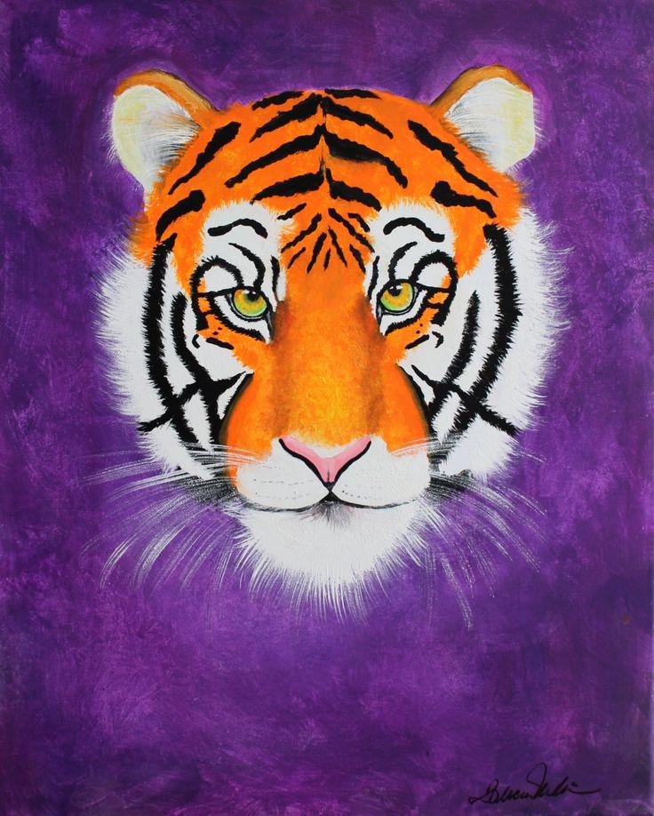 Original Tiger Painting on Canvas by Weesieskids on Etsy
