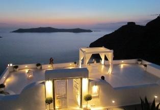 Dana Villas Hotel in Santorini--wedding terrace