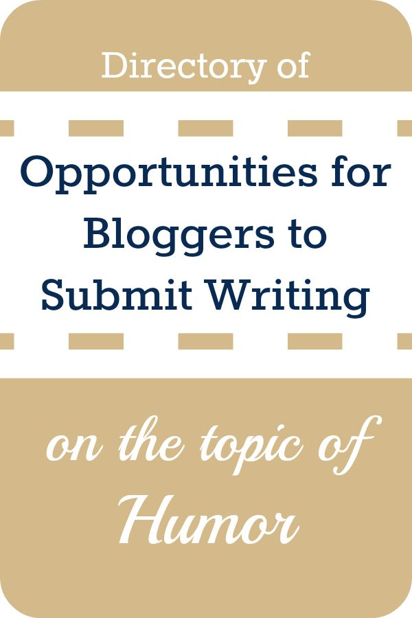 Humor writing submissions
