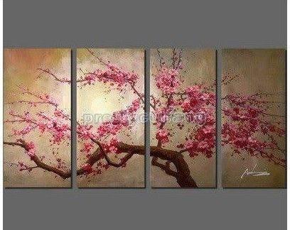 Moderno enorme pinturas a óleo abstratas ARTE DA PAREDE DE CEREJA FLORES Php167 Preço: EUA $ 46,00 / piece US $46.00
