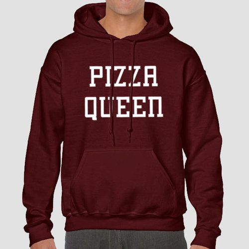 Pizza Queen Quote Slogan Illustration Personalised Unisex, Tumblr, Blog Fashion Drawing Funny, Hipster, Joke, Gift, Sweater, Sweatshirt, Hoodie, Hooded, Top Men Women Ladies Boy Girl