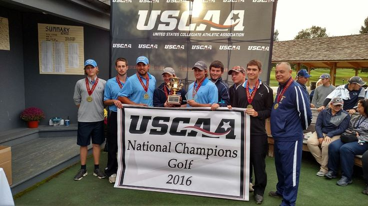 The men's golf team at Bluefield State won the 2016  United States Collegiate Athletic Association (USCAA) National Golf Championship