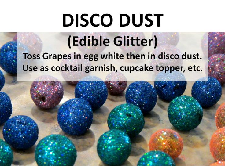 how to make edible disco dust