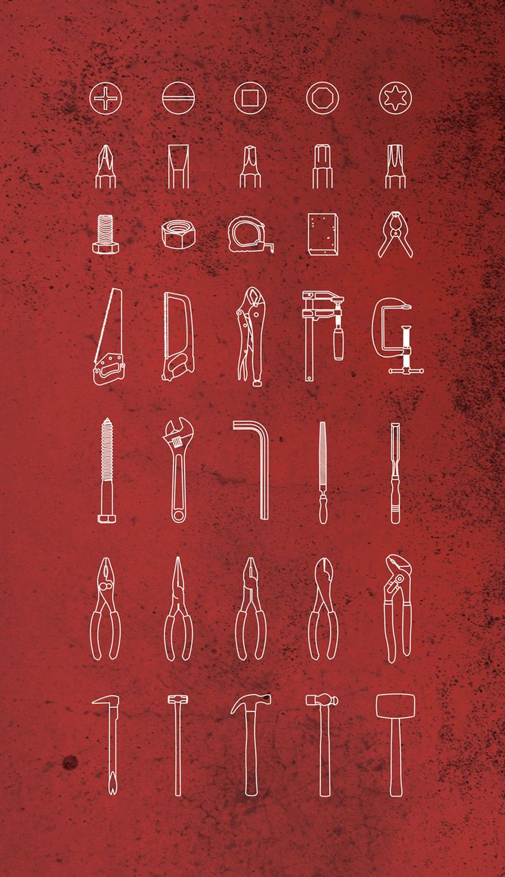 Tools pictogram