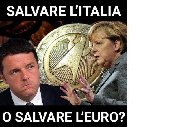 Italiani,Renzi non potrà illudervi a lungo e dovrete scegliere:salvare l'Italia o salvare l'euro? http://jedasupport.altervista.org/blog/economia/italiani-salvare-italia-euro-renzi/