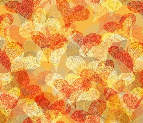 Anniversary. Gorgeous warm colors and hearts!