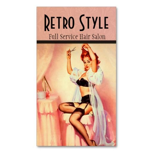 Stylist Business Card - Vintage Pin up http://www.zazzle.com/stylist_business_card_vintage_pin_up-240558394244760576?rf=238588924226571373