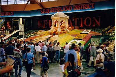 The District Exhibits are one of the most popular sights at The Show. In 2001 S.E.Queensland District won First Prize for Display, celebrating the Federation of Australia.