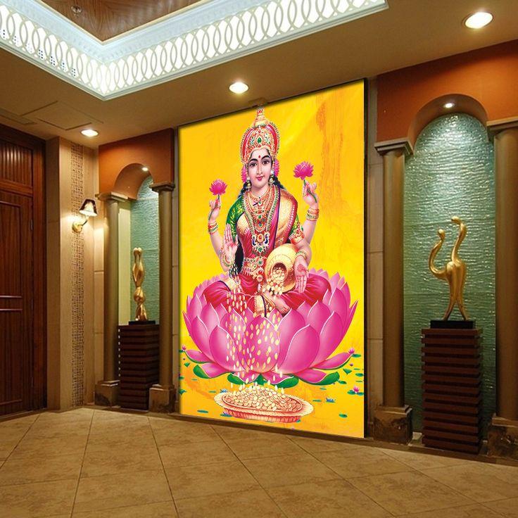 Freies verschiffen Großen wandmalereien personalisierte tapeten hintergrund der hindu-gottheiten in der lobby benutzerdefinierte größe(China (Mainland))