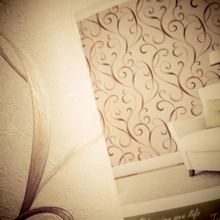 [Wallpaper] merk TERESA, motif bunga timbul