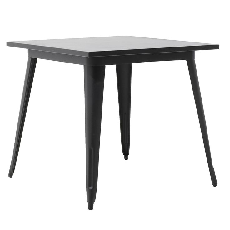 Metal table dark 80x80x75,5cm
