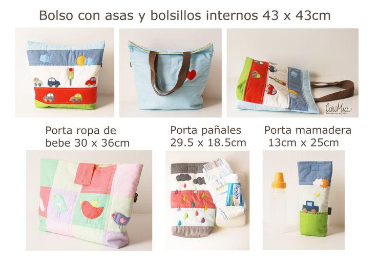 Medidas productos CaroMia! www.facebook.com/micaromia
