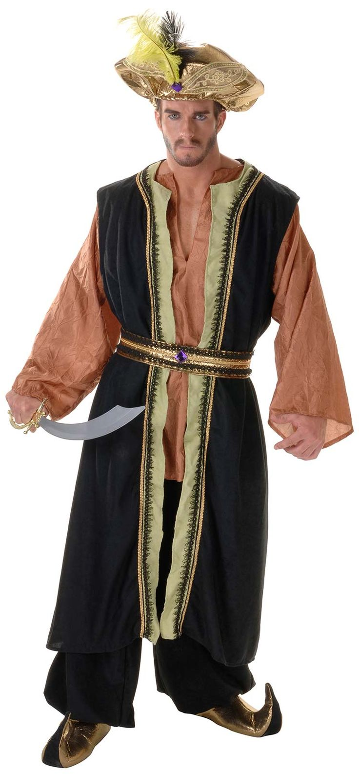 Deluxe Arabian Sultan Adult Costume - Arabian Costumes