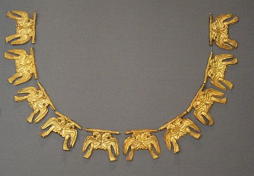 Mycenaean necklace #Greek #National #Museum.(photo by  Journey to Ancient Civilizations, via Flickr)