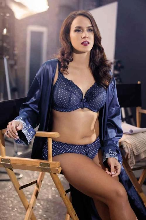 Another good example of the size I'm aiming for. She's about a 10-12 and gorgeous, for ym body type I really shouldn't go smaller than this. Don't know who the model is, but the shot is for Elomi Lingerie