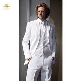 Discount White Gold Men S Wedding Suits Vest