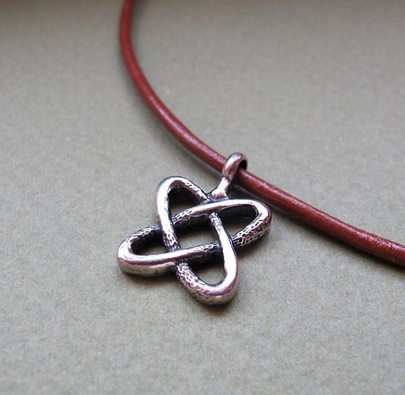 Men's Celtic Necklace. Leather Cord Necklace for by NadinNecklaces