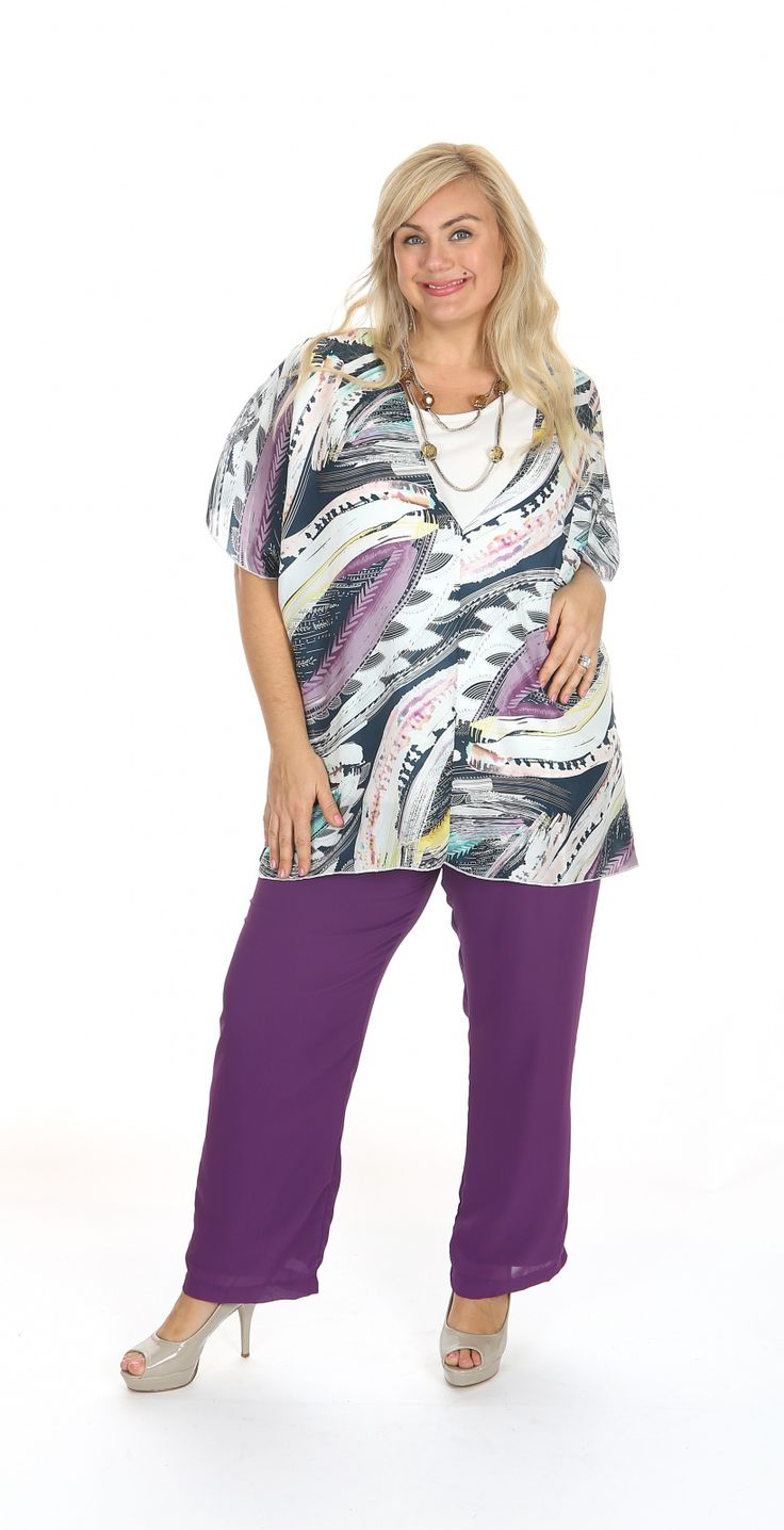 Silk print kaftan style top: Our new silk kaftan style blouse, perfect for your next special occassion. Fabric: Silk Label: Karl Joseph