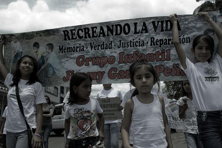 """Grupo juvenil de Trujillo """"Jimmy García Peña"""". Crédito Rodrigo Grajales."""
