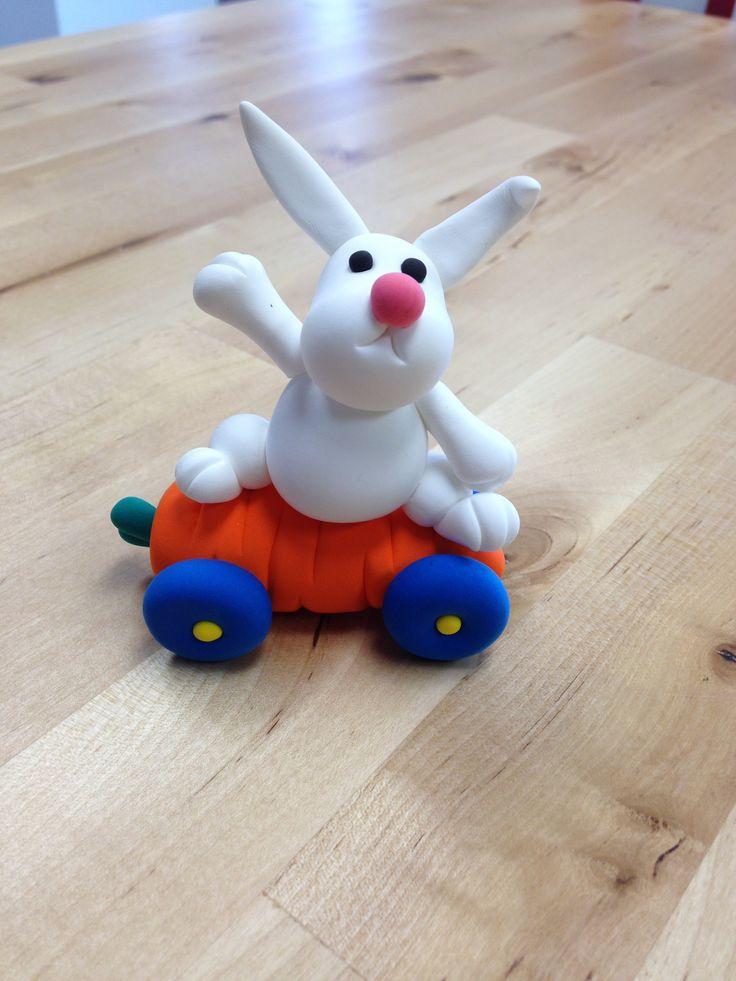 Bunny skateboarder JumpingClay