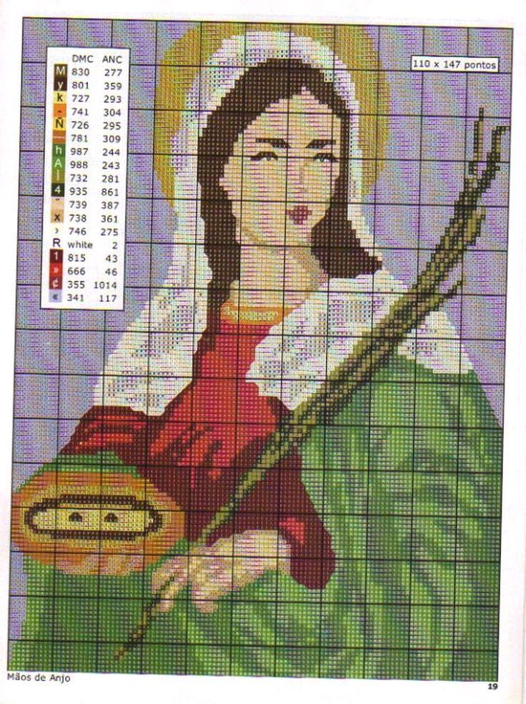 graficos de ponto cruz imagens religiosas - Pesquisa Google