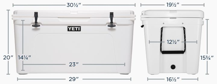 YETI Tundra 105 Dimension Chart