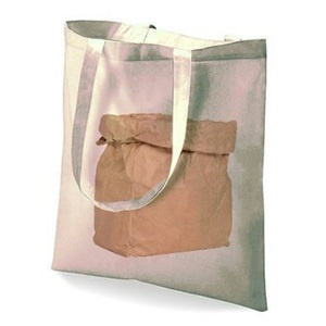 Paper Bag Motif Cotton Bag