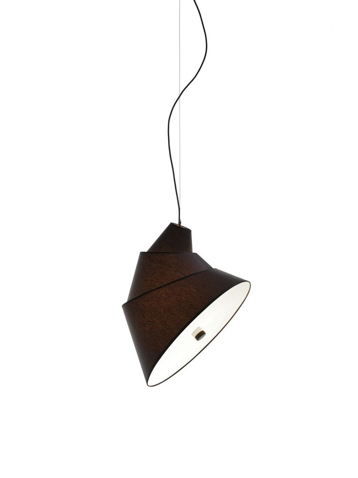 With rotating individual shades that let you change the shape and angle of the light, this hanging lamp was inspired by the Tower of Babel from the Bible.