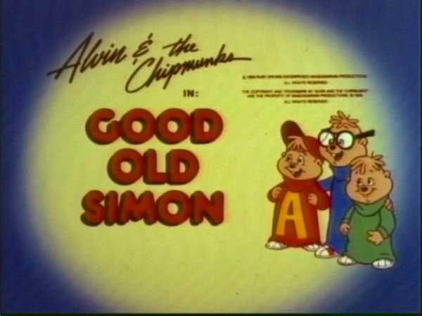 Cartoons Alvin And The Chipmunks Title Page 2020