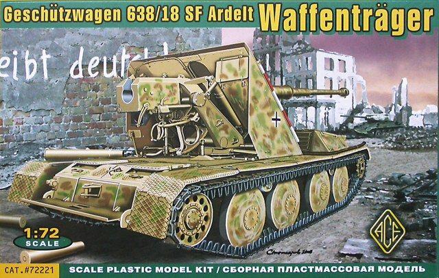Geschutzwagen 638/18 SF Ardelt Waffentrager. Ace, 1/72, rebox 2006 (ex ?, updated / new parts), No.72221. Price: Not Sold.