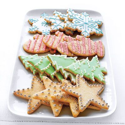 "Good Housekeeping's ""best sugar cookies ever"" look that much more tasty with ornamental frosting.  Get the recipe at Good Housekeeping »   - HouseBeautiful.com"