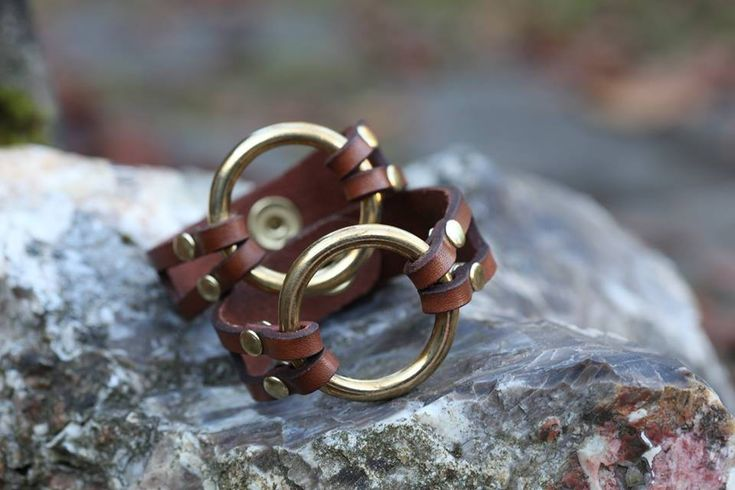 Excited to share the latest addition to my #etsy shop: The Ring Bracelet (Handcuff jewelry, bondage jewelry, bondage, gifts for her, leather, brass) http://etsy.me/2BJcIPy #jewelry #bracelet #no #women #leather #snap #brown #bronze #handcuffs