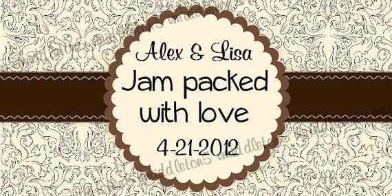 Wedding favor Jam jar label