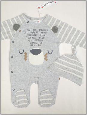 BABALUNO Baby Velour 2er SET Strampler + Mütze Hund gr 56 62 68 74 80 England