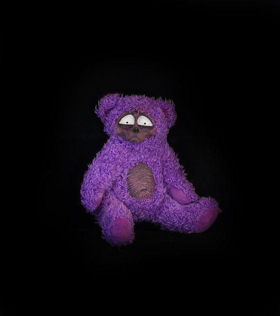 Freakin' Freddy scary handmade artist teddy bear