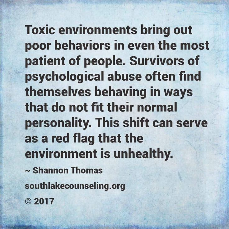 Toxic Environments Change Us